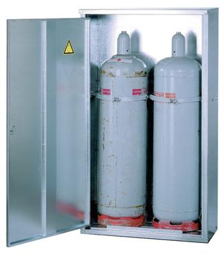 Gasflessenkasten voor butaan- en propaan