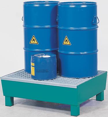 Milieupallets met 70L opvangcapaciteit voor 2 vaten