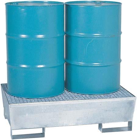 Opvangbak voor 2 vaten van 200 liter