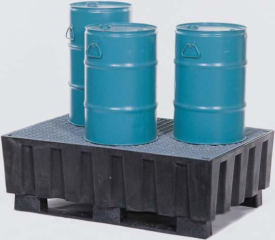 B. milieupallets (opvangcapaciteit 225 l) V* 2 vaten