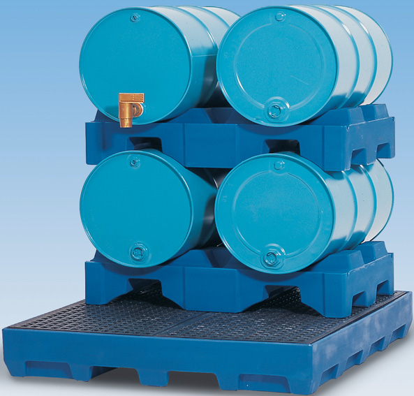 N. milieupallets (opvangcapaciteit 225 l) V* 5 vaten