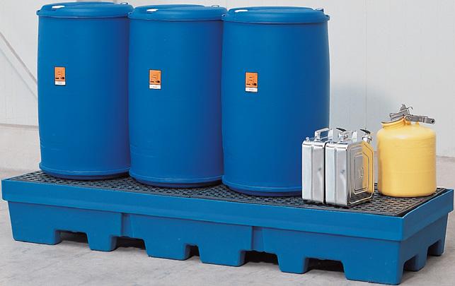 K. milieupallets (opvangcapaciteit 405 l) V* 4 vaten