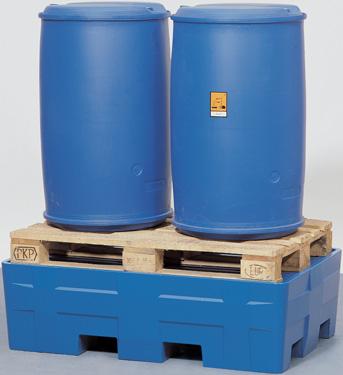 L. milieupallets (opvancapaciteit 220 l + 440 l) V* 2 vaten