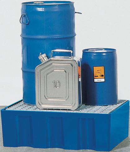 Opvangbakken met 70L opvangcapaciteit voor 2 vaten