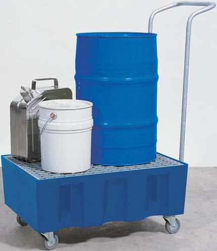 F. opvangbakken (opvangcapaciteit 70 l) V** 2 vaten (verrijdbaar)