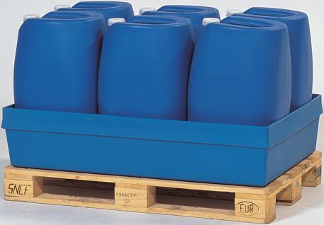 H. opvangbakken (opvangcapaciteit 200 l) V* 2 vaten