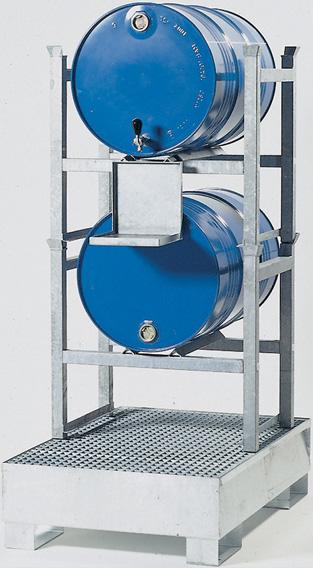 opvangcapaciteit 225 liter - volume 2 x 60 ltr. of 2 x 200 ltr.