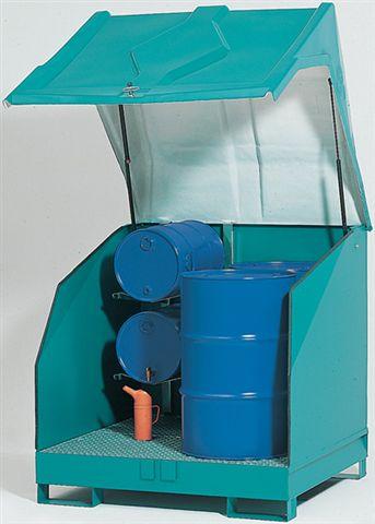 met kunststof kap - 1380 x 1350 - volume 4 x 200 liter