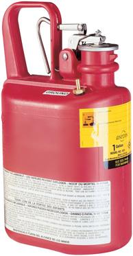B. veiligheidskannen - polyethyleen