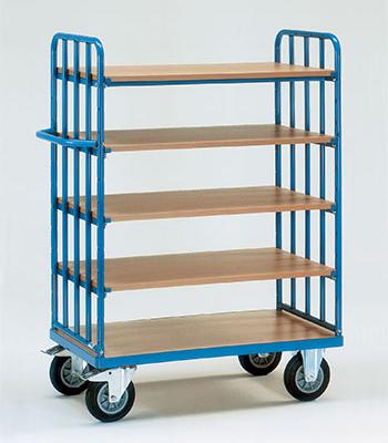 Etagewagens met legbord met 5 etages