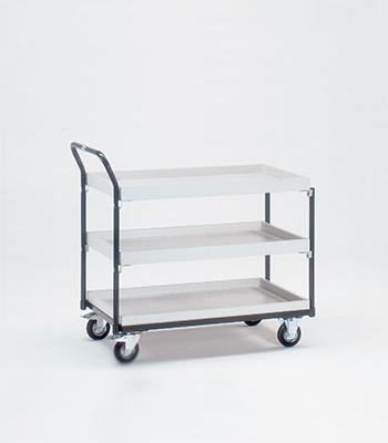 ESD tafelwagens met 2 of 3 etages met rand