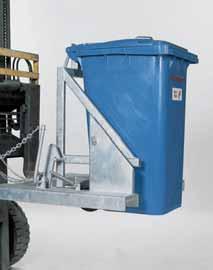 Afvalbakkenkantelaar voor heftruck