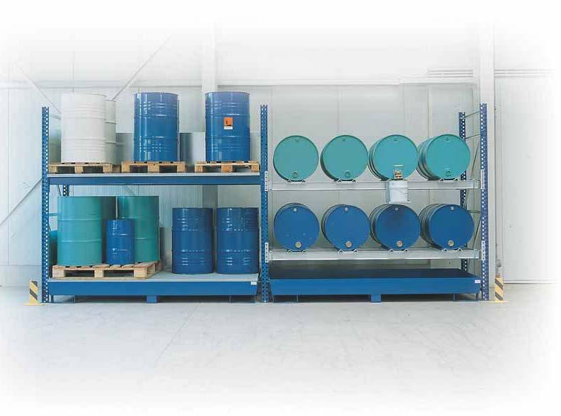 Combistellingen voor opslag van liggende vaten