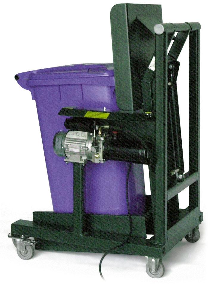 Elektrische hydraulische hefkantelinstallatie voor 240ltr container