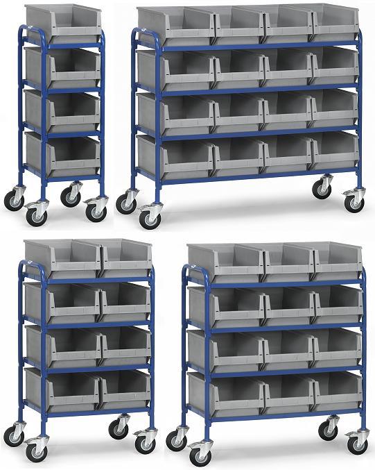 Fetra bijzetwagen voor magazijnbakken