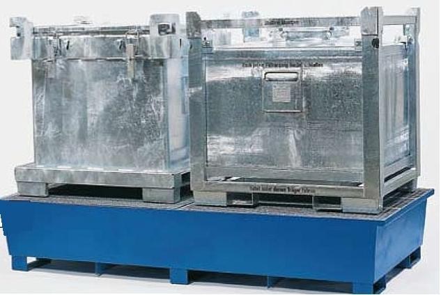 P1. Opvangbakken 1100 liter voor IBC's/KTC's