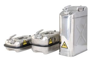 H. doseer- en transportjerrycans - roestvast staal - Niet ADR