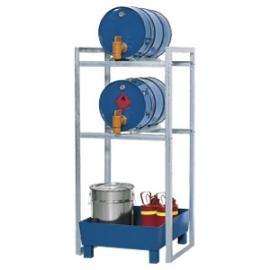 Tap- en opslagstation voor 2 vaten van 60 liter