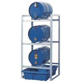 Tap- en opslagstation voor 3 vaten van 60 liter