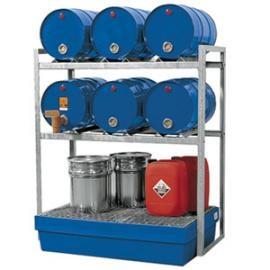 Z. Tap- en opslagstation voor 6 vaten van 60 liter