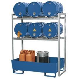 R. Tap- en opslagstation voor 6 vaten van 60 liter