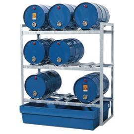 Z2. Tap- en opslagstation voor 9 vaten van 60 liter