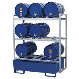 S. Tap- en opslagstation voor 9 vaten van 60 liter