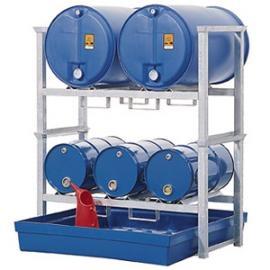 Z3. Tap- en opslagstation voor 3 vaten van 60 liter en 2 vaten van 200 liter