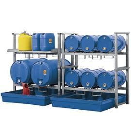 Z4. Tap- en opslagstation voor 6 vaten van 60 liter, 2 vaten van 200 liter en kleinemballage