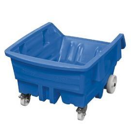 Verrijdbare kantelbakken KG van polyethyleen (PE).