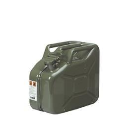 S. Veiligheidsjerrycan van staal met 10 liter inhoud.