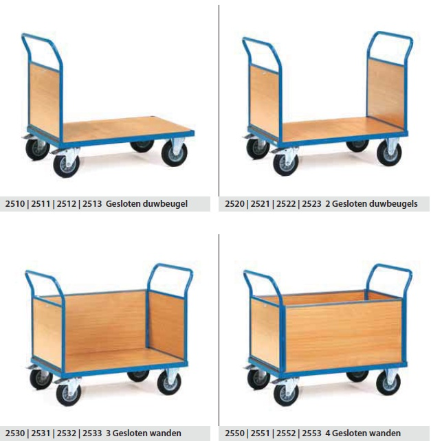 Fetra Platformwagens met wanden | multivario