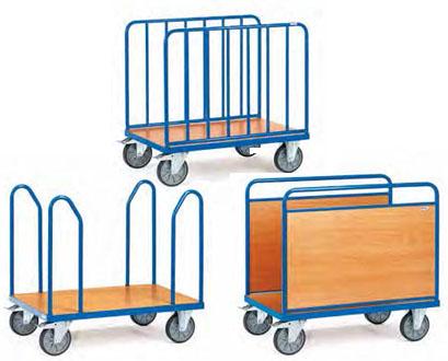 Fetra platformwagen met zijwanden