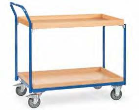 Fetra tafelwagen met legborden