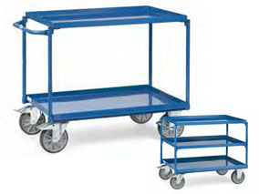 Fetra tafelwagen met stalen etages