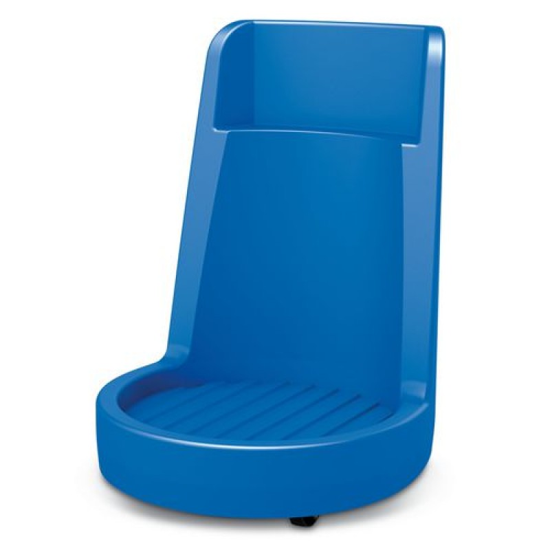 PE vatenroller kleur blauw met geïntegreerde duwbeugel