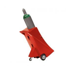 Gasflessenwagen van polyethyleen (PE) met steunwiel