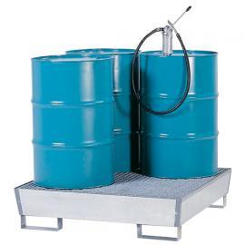 Opvangbak voor 4 vaten van 200 liter