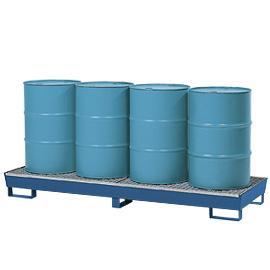 Opvangbak voor 4 vaten van 200 liter (dwars)