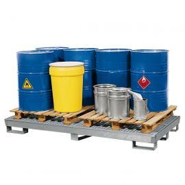 Opvangbak voor 8 vaten van 200 liter